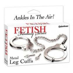 FETISH FANTASY METAL LEG CUFFS - Esposas Bondage de Metal para Las Piernas