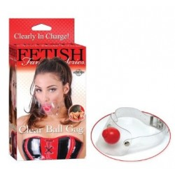 FETISH FANTASY CLEAR BALL GAG PIPEDREAM - MORDAZA DE BOLA TRANSPARENTE