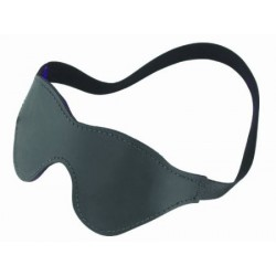 SPARTACUS BLACK FUR CONTOUR LEATHER BLINDFOLD - ANTIFAZ BLACKOUT TOTAL