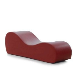 ESSE CHAISE - FAUX LEATHER CLARET