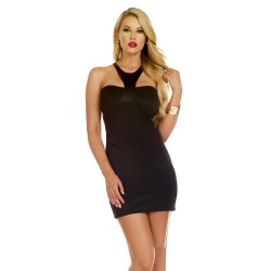 BRILLIANCE: vestido negro tipo body con escote sexy en la espalda - mod. 883981 (Blvd Collection by Forplay)