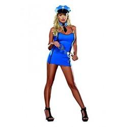 Dreamgirl 4231 Sexy Vestido de Policia azul incluye esposas