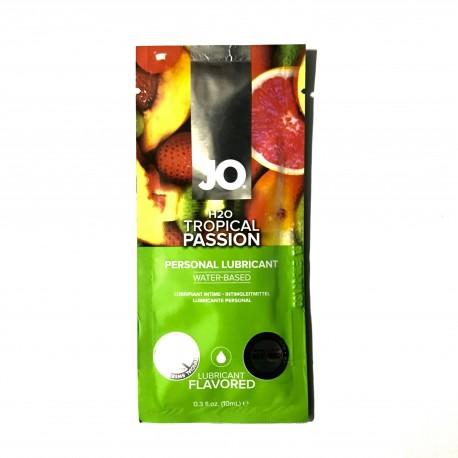JO® H2O TROPICAL PASSION - Lubricante base agua con sabor de 10ml