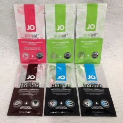 JO® Natural Love / Classic Hybrid - Paquete de 6 lubricantes base agua y fusión de 10ml