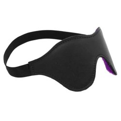 CLASSIC BLINDFOLD WHIT PURPLE FUR