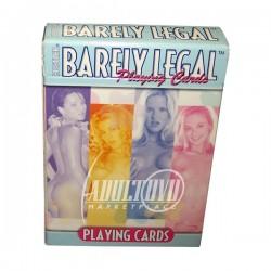 HUSTLER BARELY LEGAL PLAYING CARDS - CARTAS DE POCKER