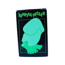 WIND-UP GLOW IN THE DARK JUMPING PECKER - Juguete saltarin en forma de pene